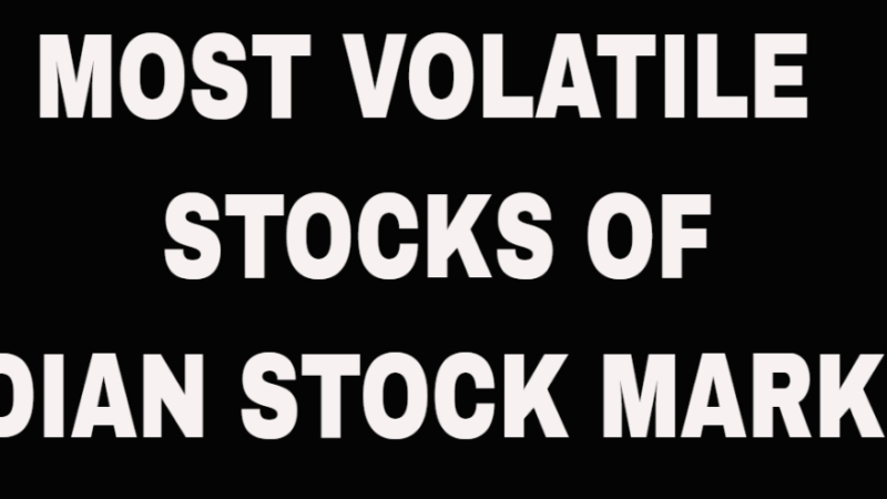 The Most Volatile Stocks
